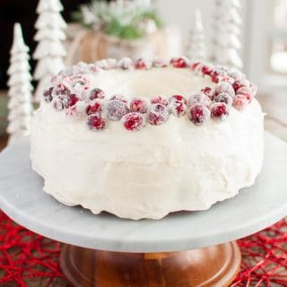Fresh Cranberry Christmas Cake Recipe