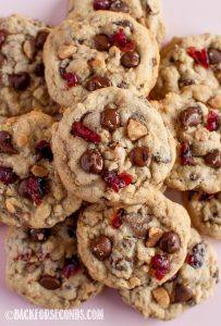 Chocolate Cranberry Toffee Cookies Recipe