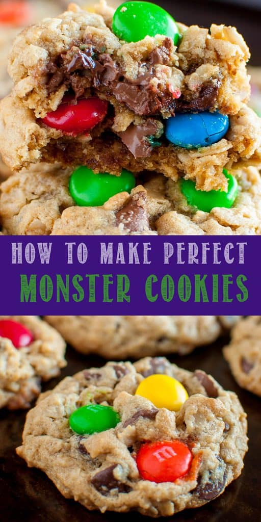 Best Monster Cookies collage photo